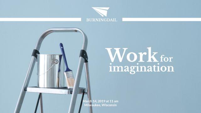 Plantilla de diseño de Tools for Home Renovation in Blue Title