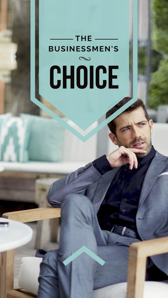 Businessman wearing Stylish Suit — Crear un diseño