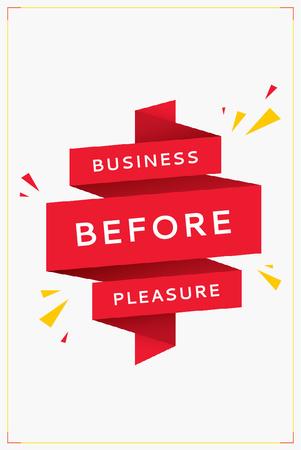 Business Quote on Red Ribbon Pinterest Modelo de Design