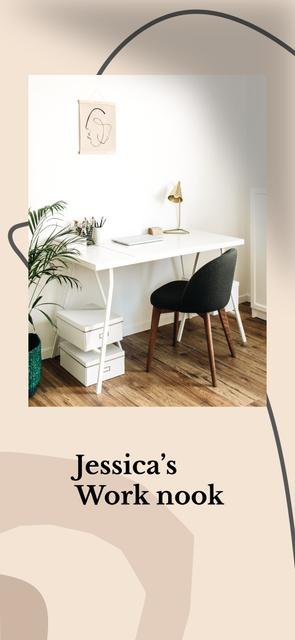 Modern Home Workplace Interior Snapchat Geofilter Modelo de Design