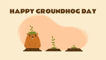 Cut funny groundhogs