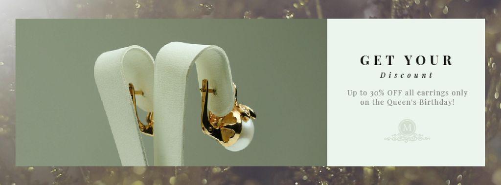 Queen's Birthday Sale Jewelry with Diamonds and Pearls — Créer un visuel