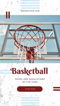 Basketball basket on court