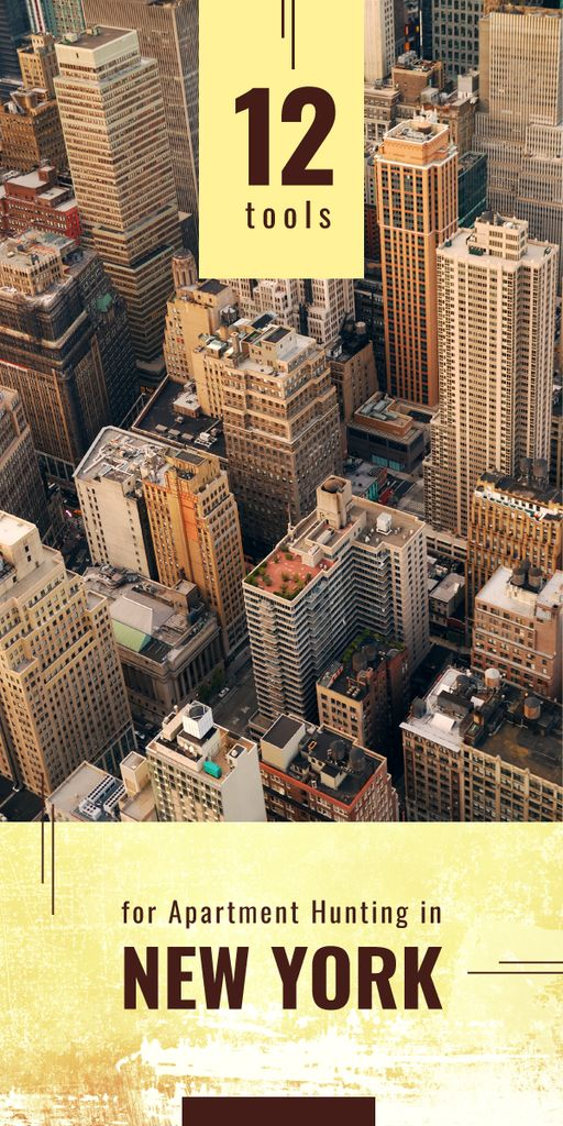 View of New York city buildings Graphic – шаблон для дизайну