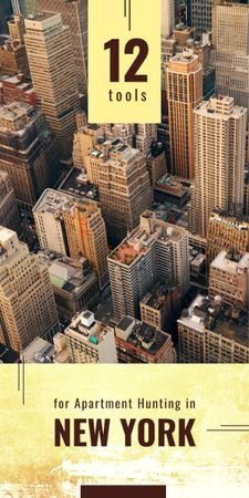 View of New York city buildings Graphic Modelo de Design
