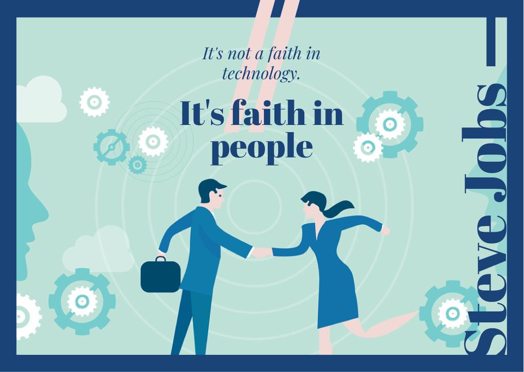 Businesspeople shaking hands — Crear un diseño