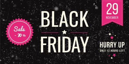 Ontwerpsjabloon van Image van Black Friday Sale Announcement Glitter on Dark Background