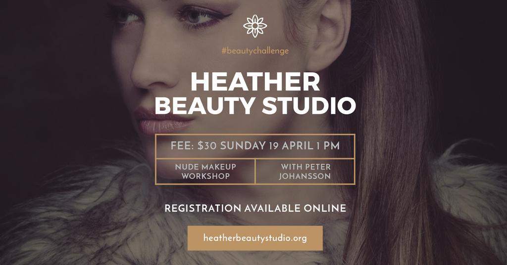 Beauty Studio Ad with Beautiful Woman – Stwórz projekt