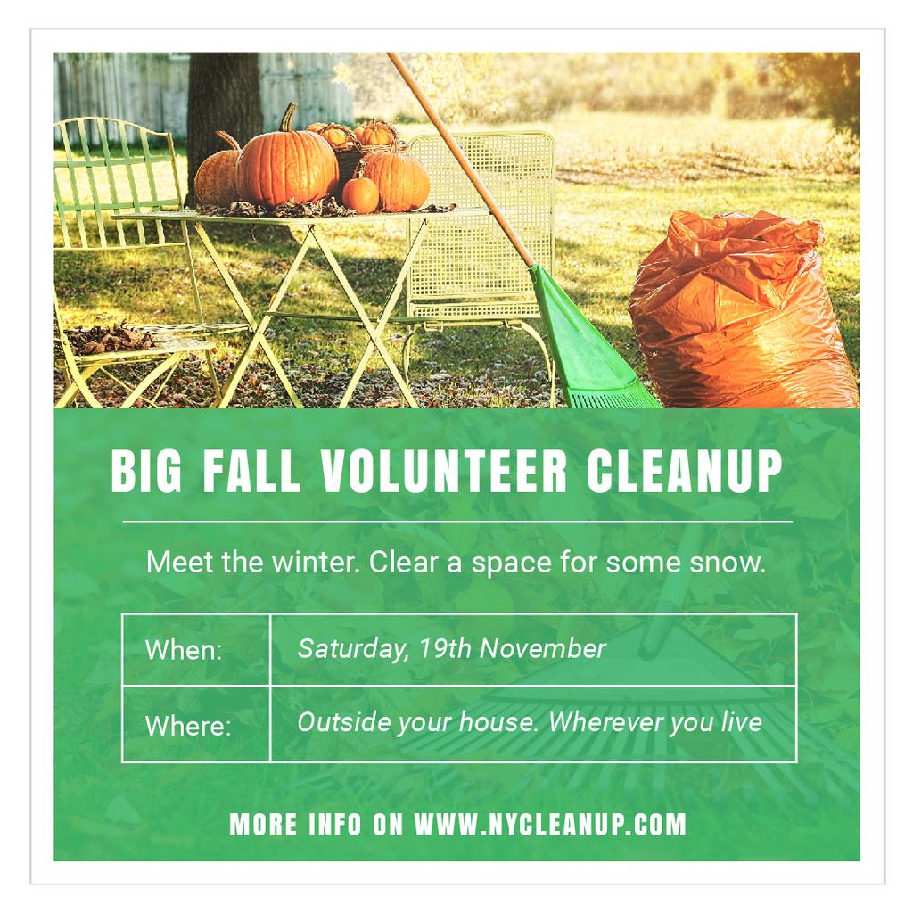 Big fall volunteer cleanup — Créer un visuel