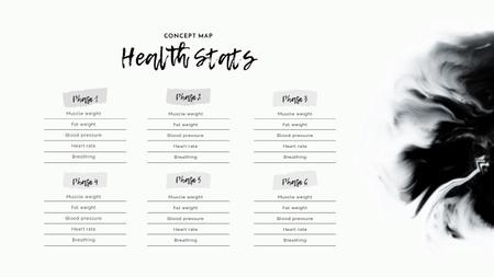 Health Statistics chart Mind Map Design Template