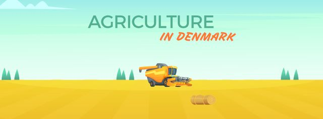 Harvester working in field Facebook Video cover Modelo de Design