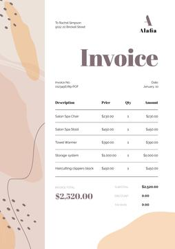 Spa Salon Services Invoice