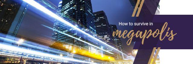 Night City Traffic Lights Email header – шаблон для дизайна
