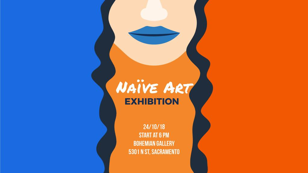 Exhibition Announcement Simple Drawing of Woman | Full Hd Video Template — Створити дизайн