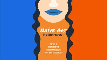 Exhibition Announcement Simple Drawing of Woman | Full Hd Video Template