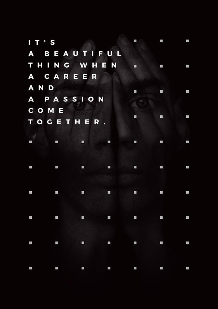 Citation about career and a passion — Crea un design