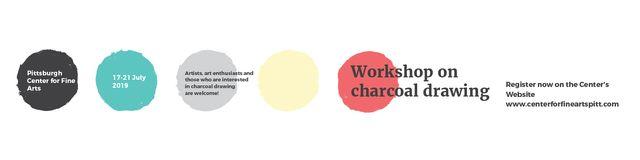 Charcoal Drawing Ad Twitter Modelo de Design