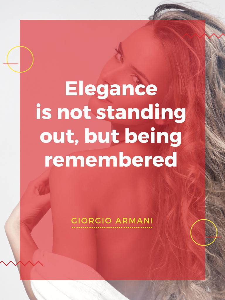 Elegance quote with Young attractive Woman — Crear un diseño