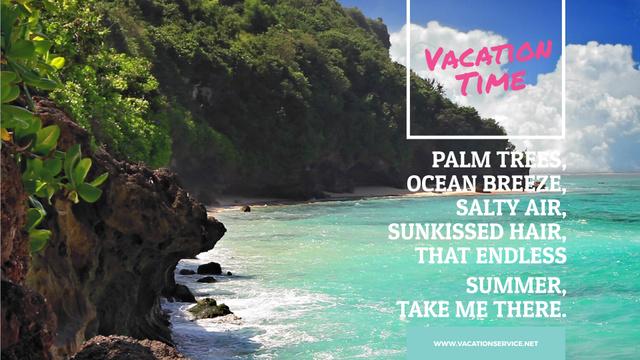 Turquoise sea water at tropical coast Full HD video Modelo de Design