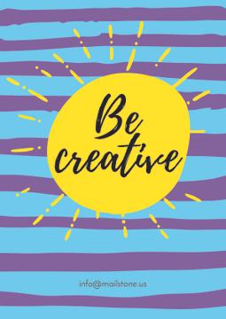 Be creative card with sun