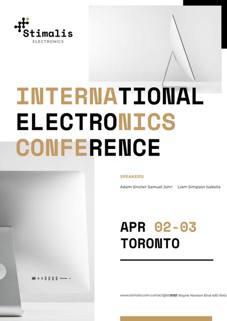 Electronics Conference Annoucement Posterデザインテンプレート