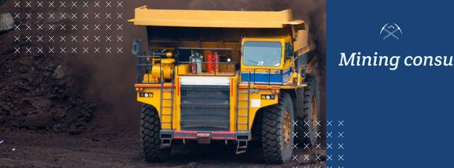 Mining consultancy services Facebook cover Modelo de Design