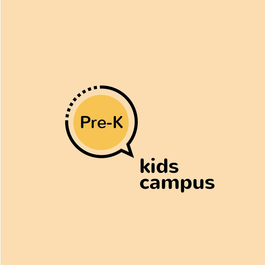 Kids Campus Ad with Speech Bubble Icon — Crear un diseño