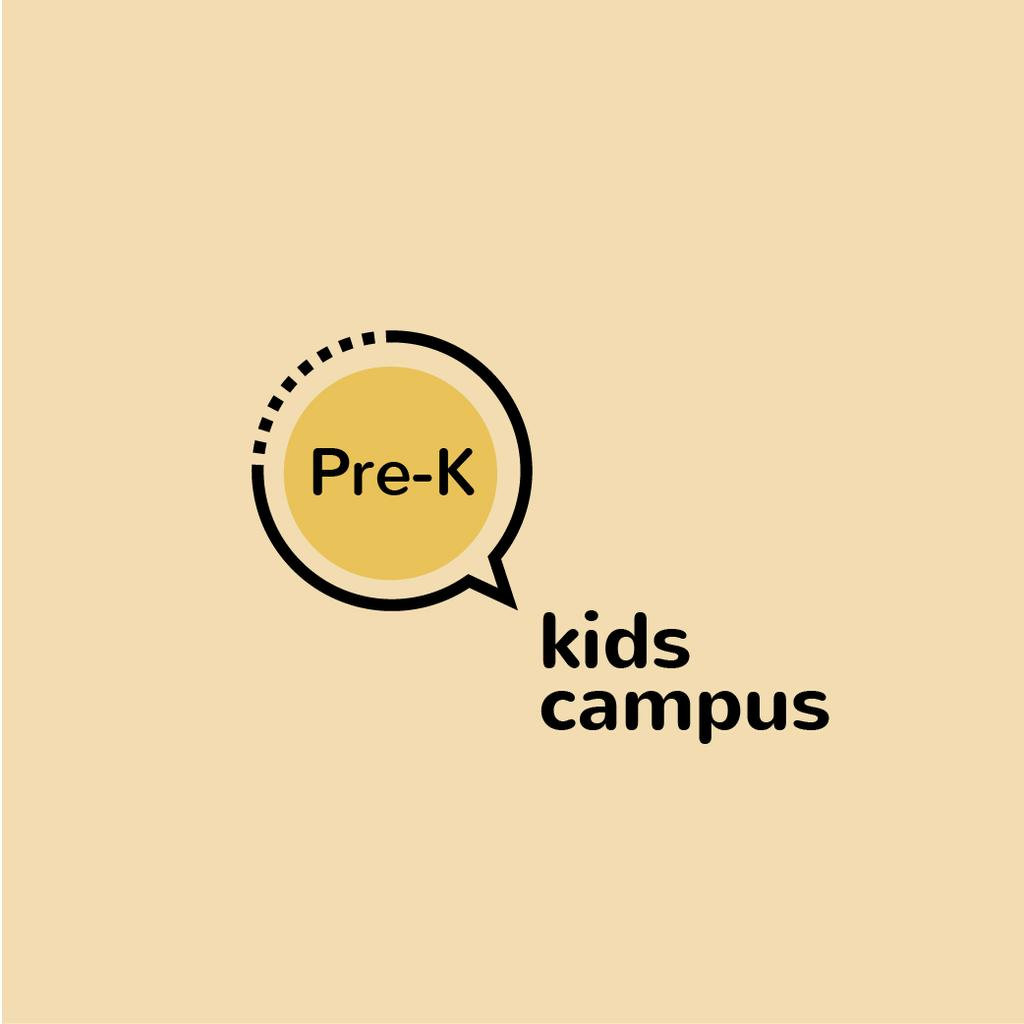 Kids Campus Ad Speech Bubble Icon — Create a Design