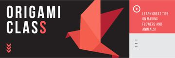 Origami class Invitation