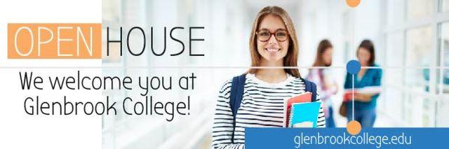 Modèle de visuel Greenbrook College Invitation - Email header
