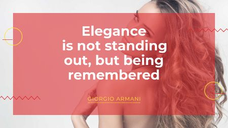 Plantilla de diseño de Elegance quote with Young attractive Woman Title