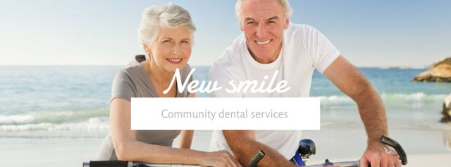 Ontwerpsjabloon van Facebook cover van Dental services for elder people