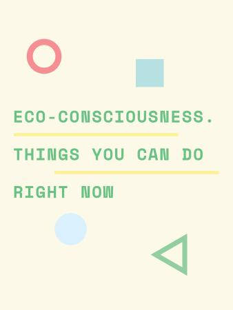 Szablon projektu Eco-consciousness concept with simple icons Poster US