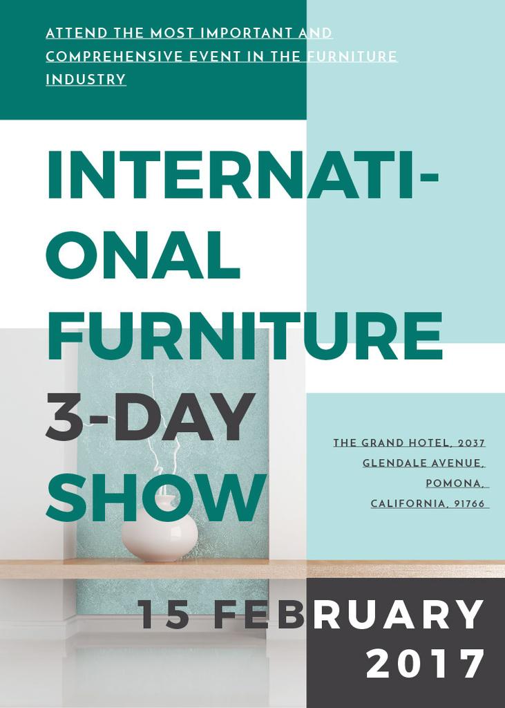 Furniture Show announcement Vase for home decor — Créer un visuel