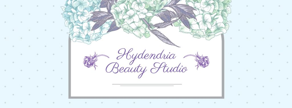 Beauty Studio Ad on Floral pattern —デザインを作成する