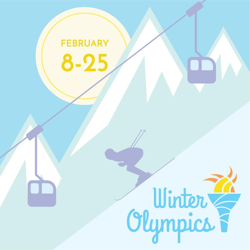 Winter Olympics in PyeongChang poster — Створити дизайн