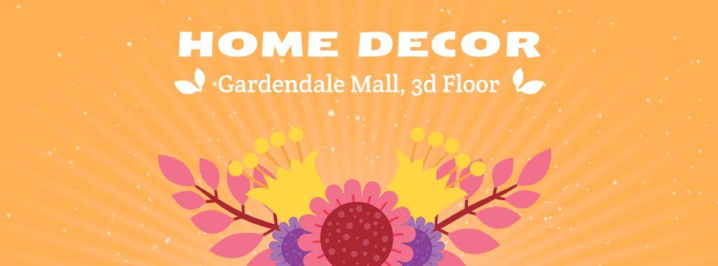 Decor studio Blooming bright flowers — Créer un visuel