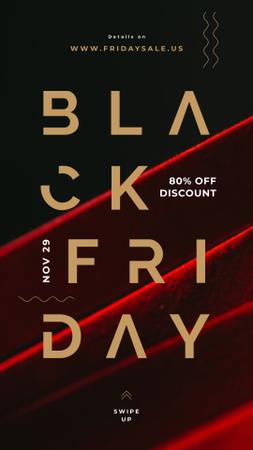 Ontwerpsjabloon van Instagram Story van Black Friday Sale Red paper sheets