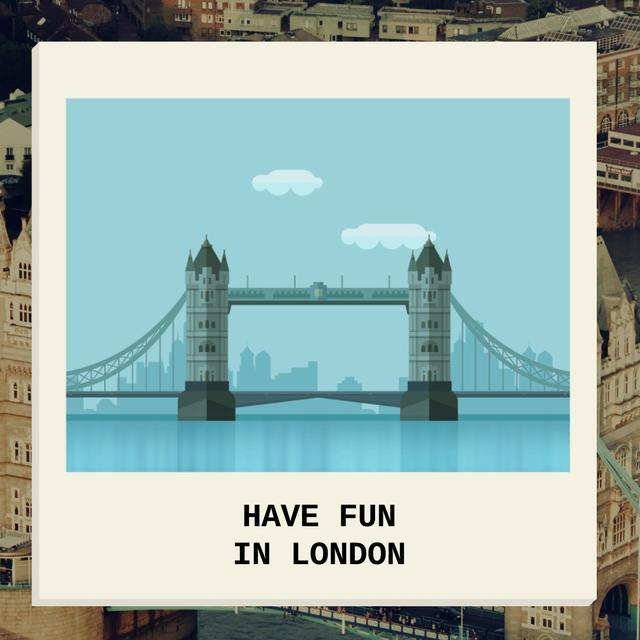 Szablon projektu London Famous Travel Spot Animated Post