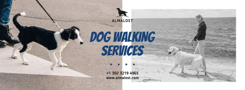 Dog Walking Services People with Dogs — Créer un visuel