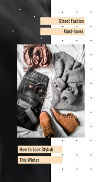 Fashion Ad Casual Winter Outfit | Vertical Video Template