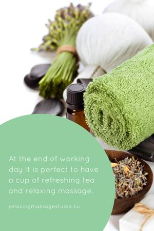 Template di design Relaxing massage studio Ad Pinterest