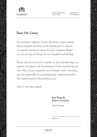 Ontwerpsjabloon van Letterhead van Hardware Repair company services offer