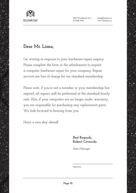 Hardware Repair company services offer Letterhead Design Template