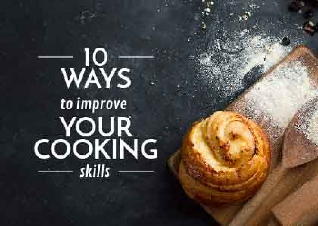 Improving Cooking Skills with freshly baked bun Postcard Modelo de Design