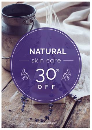Plantilla de diseño de Natural skincare Sale Offer Poster