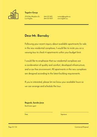 Real Estate agent official response Letterhead Design Template