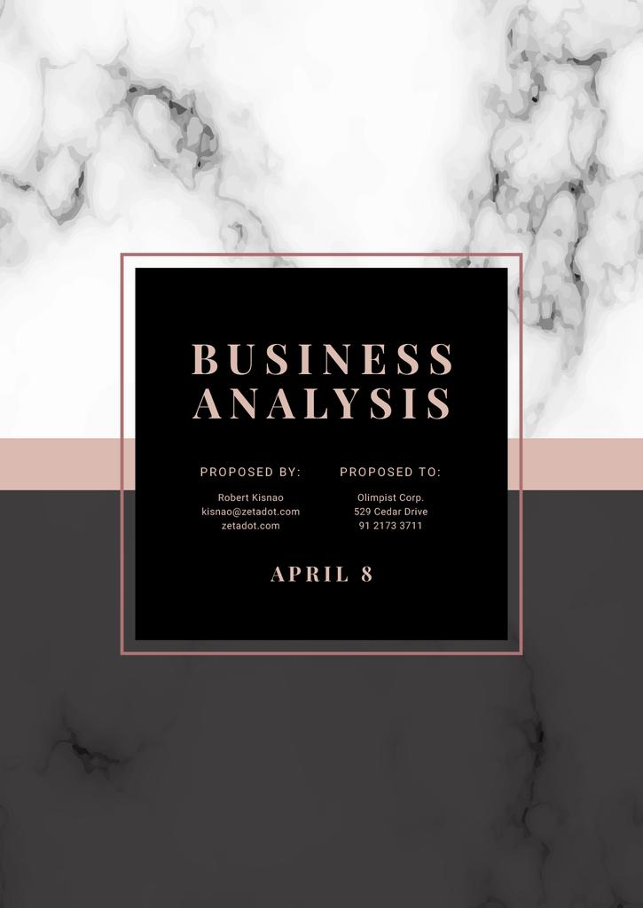 Business Analysis services offer on Marble pattern — Créer un visuel