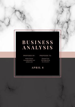 Business Analysis services offer on Marble pattern Proposal Modelo de Design
