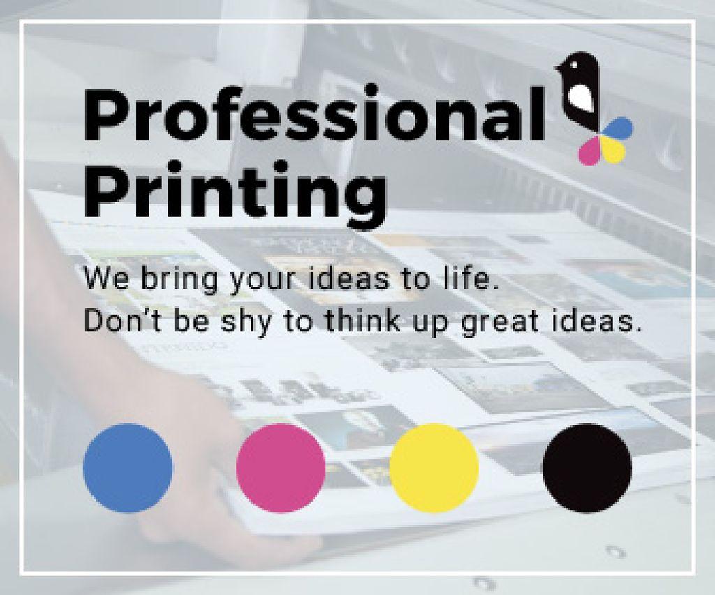 Professional printing poster — Создать дизайн
